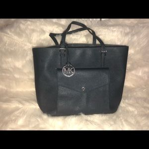 Michael Michael Kors Jet Set Tote Leather Navy